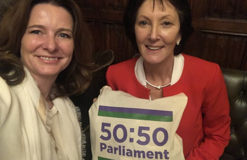 Gillian Keegan MP and Julia Hixson